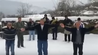 Top 10 for 2015 - Bulgarian folklore dances in the snow