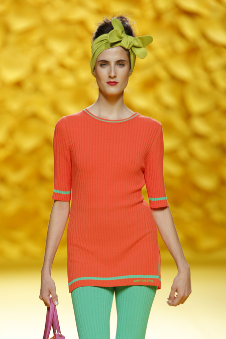 Agatha Ruiz de la Prada presented Spring/Summer 2016 collection during Mercedes-Benz Fashion Week Madrid