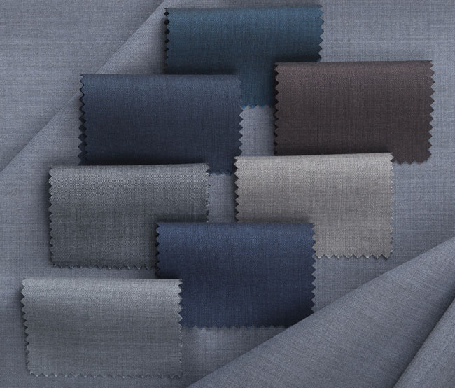 Alfred Brown weaving worsted fabrics from merino wool