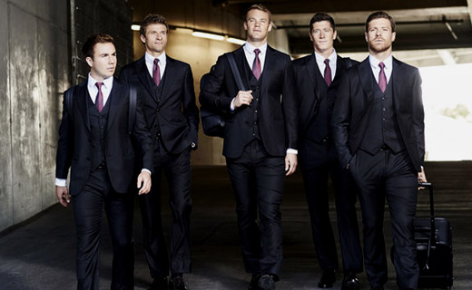 players from bayern munich wearing armani made to measure. Black Bedroom Furniture Sets. Home Design Ideas