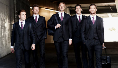 Players from  Bayern Munich wearing Armani Made-to-Measure