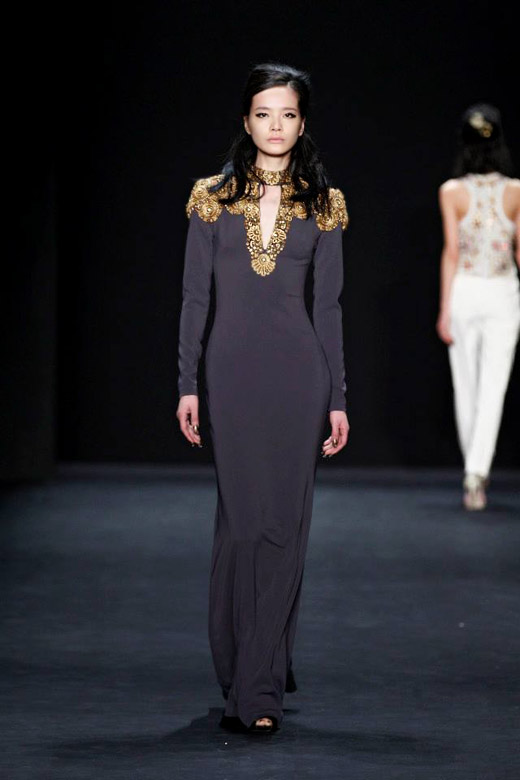 Badgley Mischka Fall-Winter 2015/2016 collection at MBFW New York
