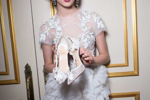 Christian Louboutin debuts fall styles on the Marchesa Fall 2015 Runway