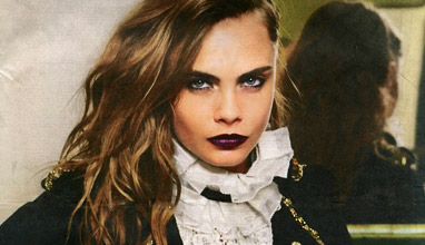 Cara Delevingne with sexy military look in the new Chanel campaign
