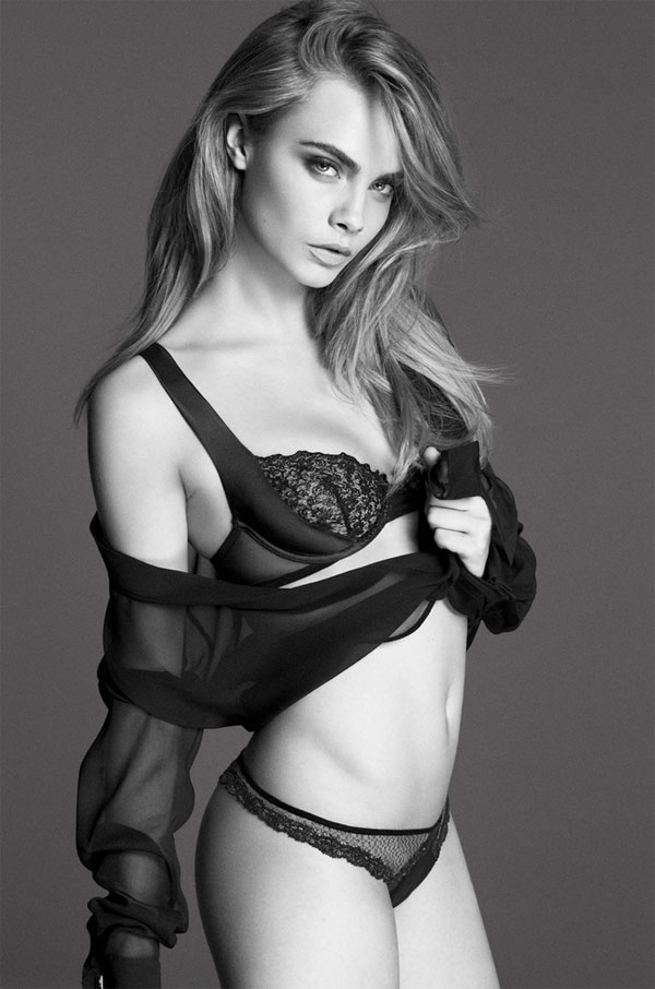 Cara Delevingne is the new face of DKNY lingerie collection