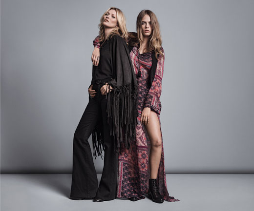 Kate Moss, Cara Delevingne and Mango - a spectacular merger
