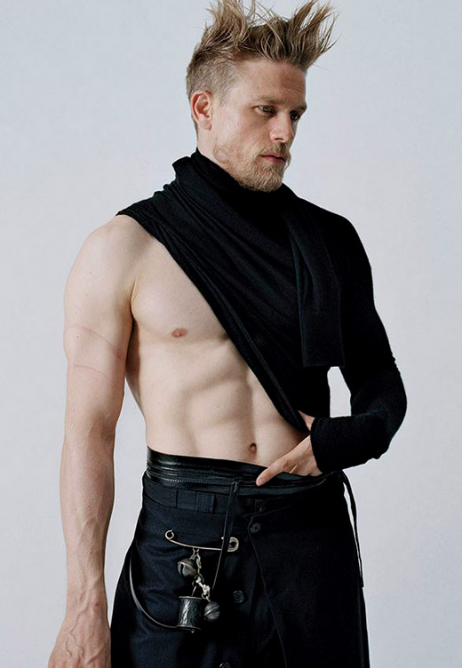 Sexiest Man Alive Charlie Hunnam looks amazing on the cover of VMAN