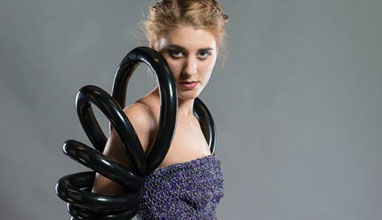 Fashion designer Chloe Henris loves to transform different materials into original clothes
