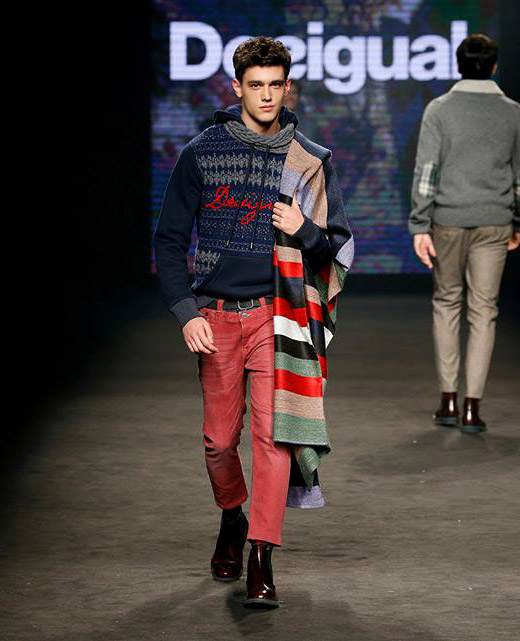Desigual Fall-Winter 2015/2016 menswear collection at 080 Barcelona Fashion week