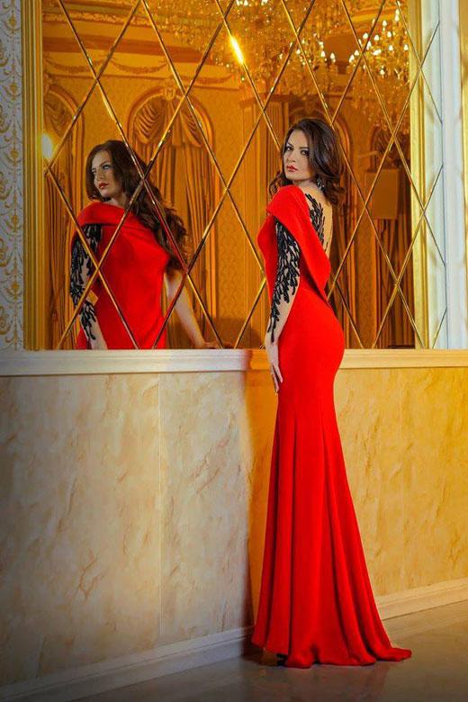 The top designer Sofia Borisova on the red carpet in Milan