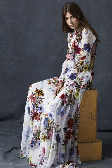 Erdem Pre-Spring 2016 collection - floral  fairytale