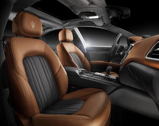 Ermenegildo Zegna with made-to-measure interiors for Maserati
