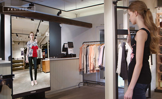 Futuristic Dressing Room Innovative Retail And Marketing