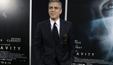 George Clooney style: Wearing a suit