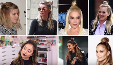 The Half Bun - 90's trend revival