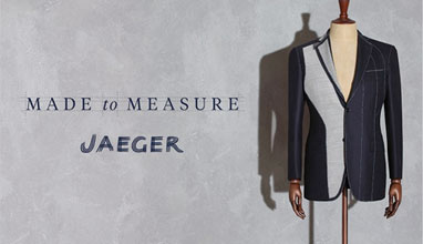 The English brand Jaeger launched Made-to-measure service