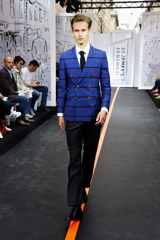 St James hosted an Open air catwalk show during the London Collections: Men