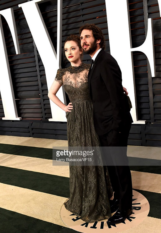 Kat Dennings steps out in Gemy Maalouf to the 2015 Vanity Fair Oscar party
