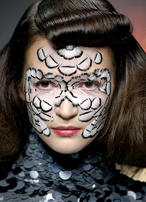 Exhibition 'Warpaint: Alexander McQueen and Make-Up' at London College of Fashion