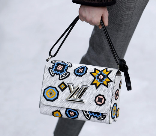 Fur, animal prints and box-like handbags by Louis Vuitton for Fall-Winter 2015/2016