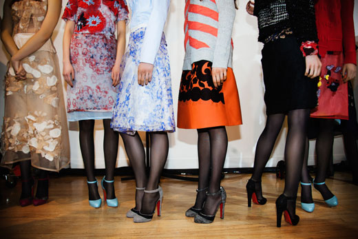 Christian Louboutin Shoes And Beauty Featured At London Fashion Week