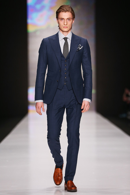 Musika frere presented fall winter 2015 2016 at mercedes for Shirt color navy suit