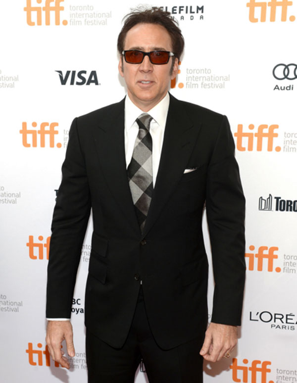 Celebrities' style: Nicolas Cage between the black and blue