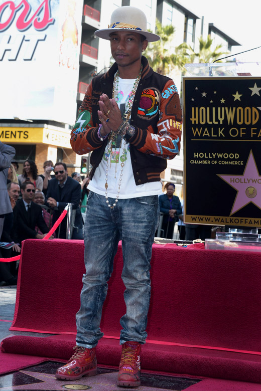 Pharrell Williams - the 2015 CFDA Fashion Icon Award winner