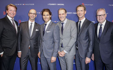 Celebrating Nadal's ambassadorship for 'Tommy Hilfiger' underwear, tailored and fragrance