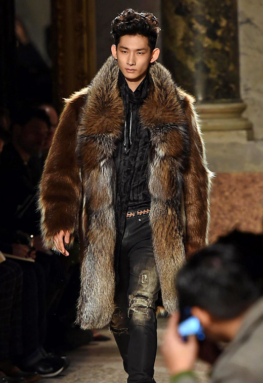 Roberto Cavalli Fall-Winter 2015/2016 collection at Milan ...