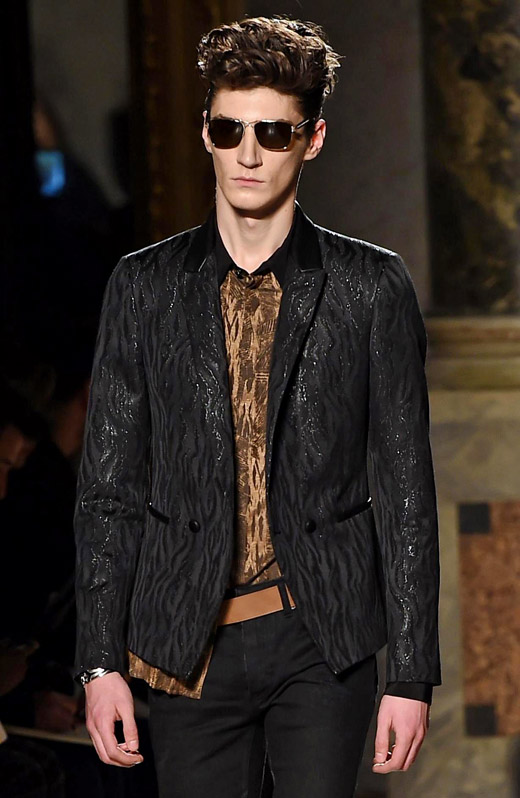 Roberto Cavalli Fall-Winter 2015/2016 collection at Milan men's fashion week