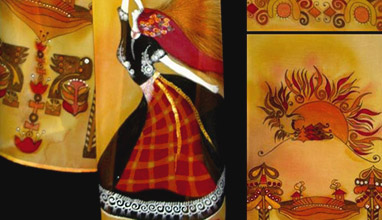 Bulgarian folklore in fashion: Tanya Ivanova's painted scarves