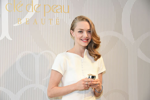 The Brand Muse Amanda Seyfried visiting Japan for SHISEIDO Clé de Peau Beauté Press Conference on New Products 2016 at the Palace Hotel Tokyo