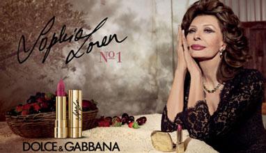 Sophia Loren N1 lipstick for Dolce&Gabanna