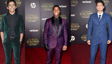 How the stars were dressed during the Star Wars: The Force Awakens premiere