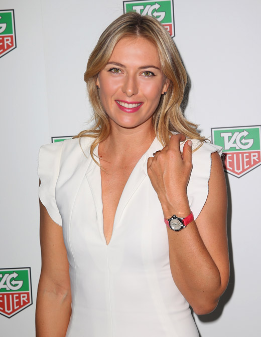 Tennis Superstar Maria Sharapova at TAG Heuer's Summer party