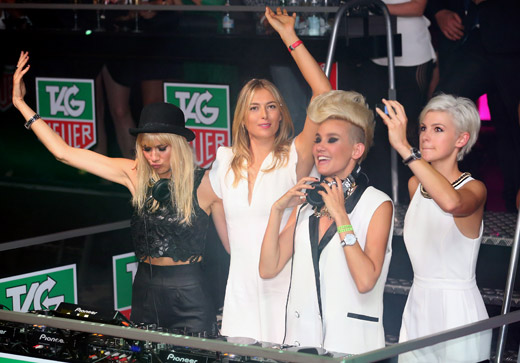 Tennis Superstar Maria Sharapova at TAG Heuer's Summer party