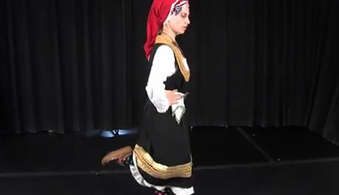 Key steps from Bulgarian folklore dances: The Bird Step