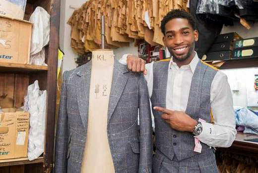 British rapper Tinie Tempah has created a bespoke men's suit