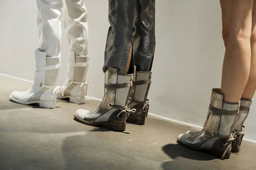 Christian Louboutin boots during Todd Lynn SS 2016 presentation