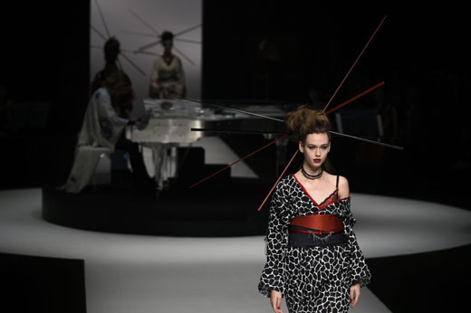 Tokyo Fashion Week showed the new face of kimono