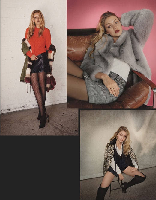 Topshop Autumn/Winter 2015 campaign starring Gigi Hadid