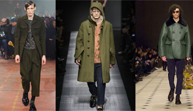 The green in the menswear - a key trend for Fall/Winter 2015-2016