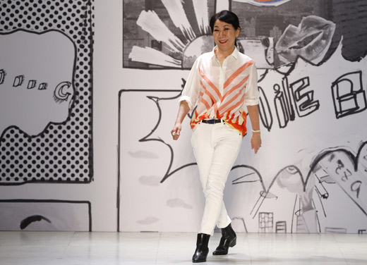 Japanese designer Tsumori Chisato with attractive Comic Prints at Paris Fashion Week