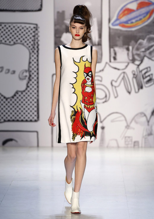 Japanese Designer Tsumori Chisato With Attractive Comic Prints At Paris Fashion Week News Bg Fashion