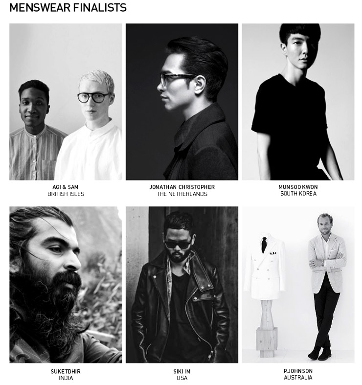 The International Woolmark Prize Menswear Finalists announced