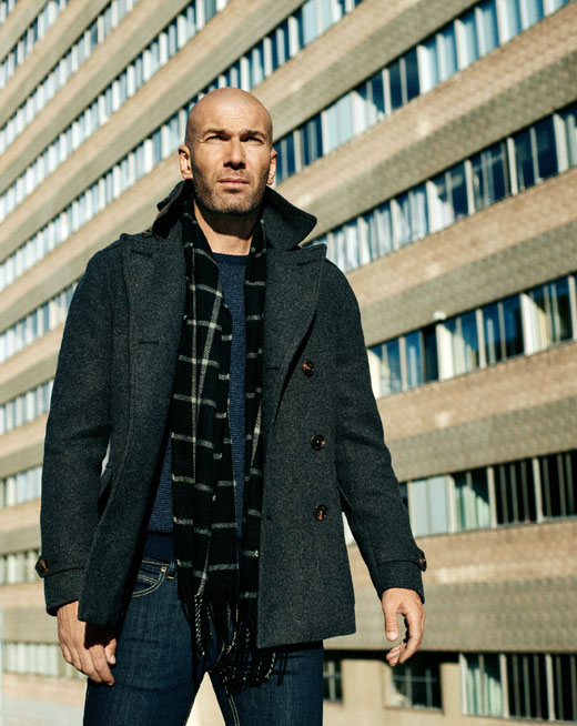 Zinedine Zidane for MANGO MAN Fall/Winter 2015 campaign