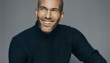 Zinedine Zidane continues for another season as the face of MANGO MAN