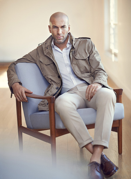 Zinedine Zidane for Mango - the face of Mango Men