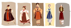 Cartoon series where the characters wear Bulgarian traditional costumes